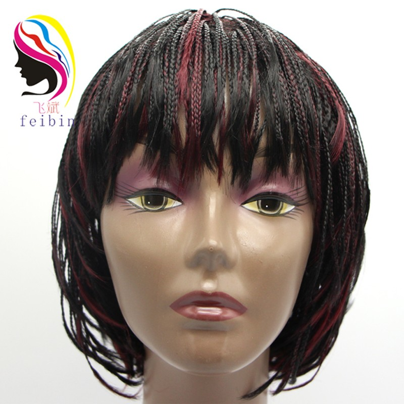Synthetic Short Fashion Braiding Wig