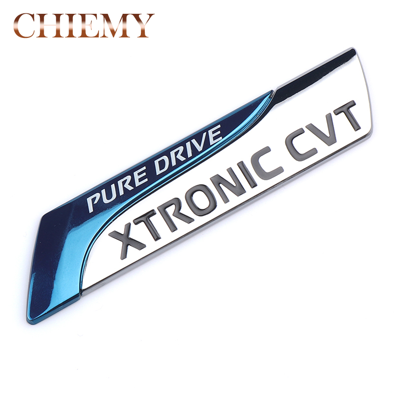 For Nissan Metal Pure Drive XTRONIC CVT Nismo Emblem Badge Tail Sticker Qashqai X-Trail Juke Teana Tiida Sunny Note Car Styling yuzhe 2 front seats auto automobiles car seat cover for nissan qashqai note murano march teana tiida x trail car accessories