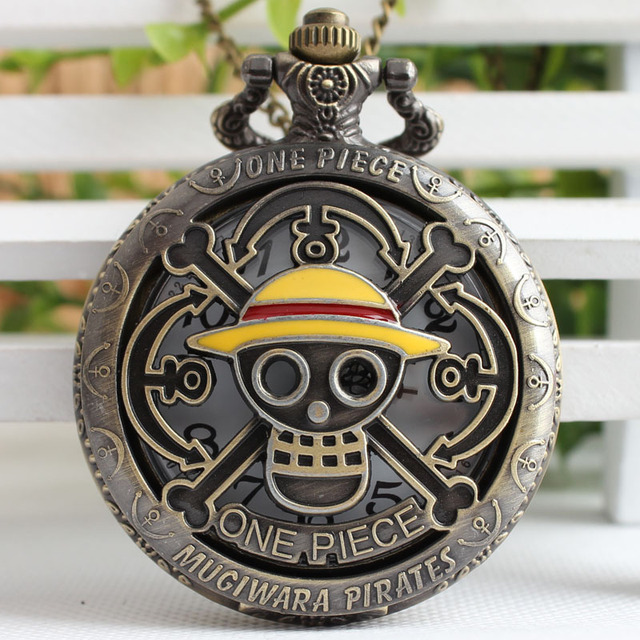 ONE PIECE Design Pocket Watches for Men Women Unisex Full Hunter Carved Lid Fob