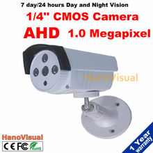 "New! High definition AHD Camera 720P Outdoor Waterproof 1/4"" CMOS Sensor 1.0MP Security Surveillance Camera With IR Cut Filter"
