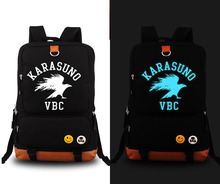 Haikyuu karasuno Backpack Anime Canvas Student Schoolbag Unisex Travel Bags