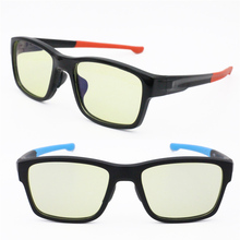 Anti-blue light blocking eyeglasses computer protective glasses TR90 square shape durable UV400 outdoor sport sunglasses