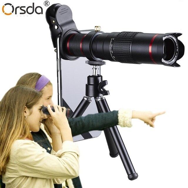 Orsda HD נייד טלפון טלסקופ 4 K 22x זום עדשת טלה חיצוני Smartphone מצלמה עדשות עבור IPhone Sumsung Smartphone