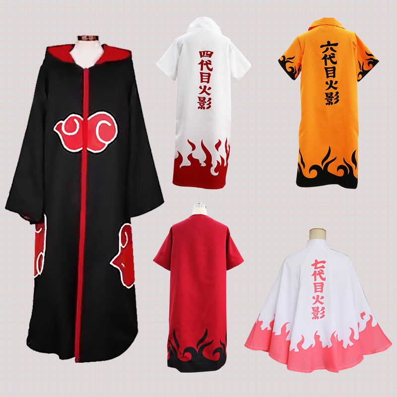 Naruto Xiao Role-playing Cloak Costume Small Red Cloud Cloak Cosplay Uchibo Eagle Organization Sasuke Cloak Costume