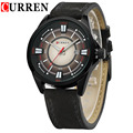 Curren Top Brand Clocks Leather Straps Quartz Watch Fashion Casual Summer Dress Male Wristwatch Military Sports Watch Man Hours