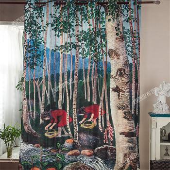 Blackout curtains 3d curtains for bedroom christmas curtains living room divider screen blinds window tulle kids curtains drapes
