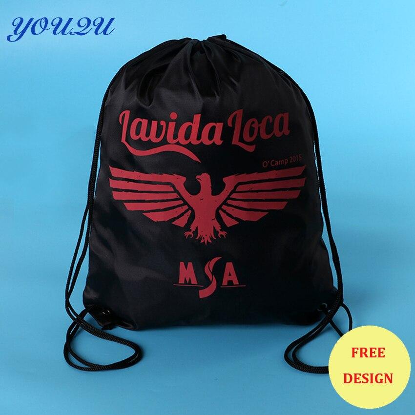 Waterproof Polyester backpack bag Drawstring Bag