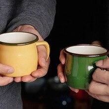 Эмалированная чашка многоцветная 8 см большая чашка для живота кофейная чашка