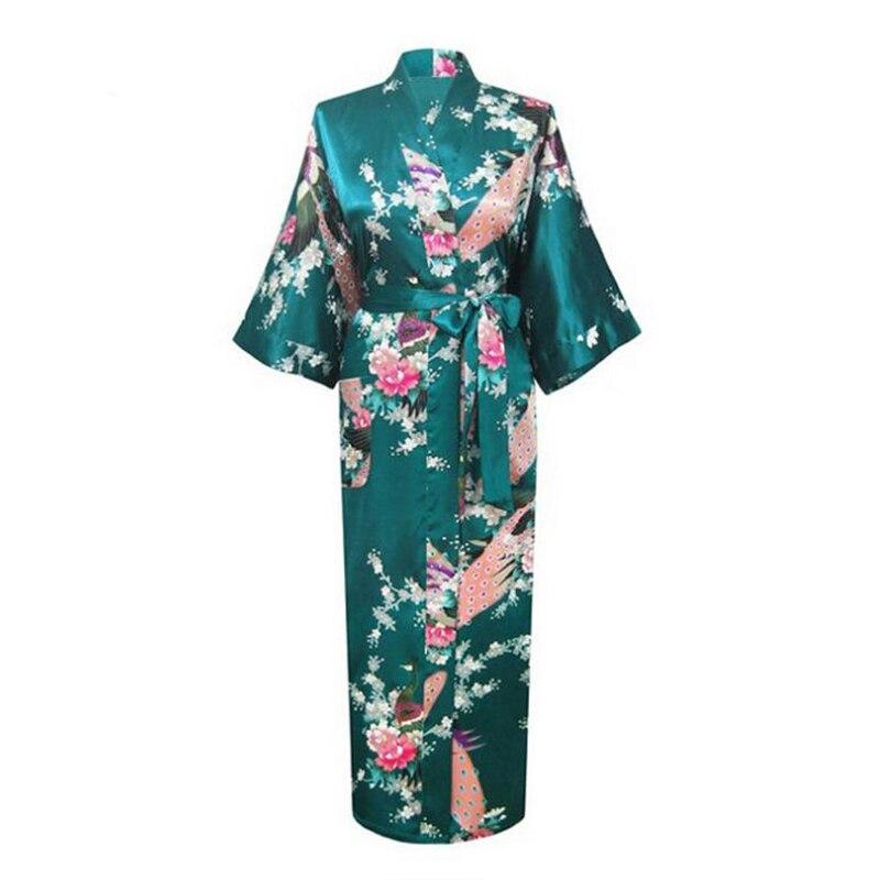 Plus Size XXXL Women Sexy Kimono Bath Gown Long Flower Nightgown Lingerie Sleepwear Brides Bridesmaid Wedding Robe Pajamas