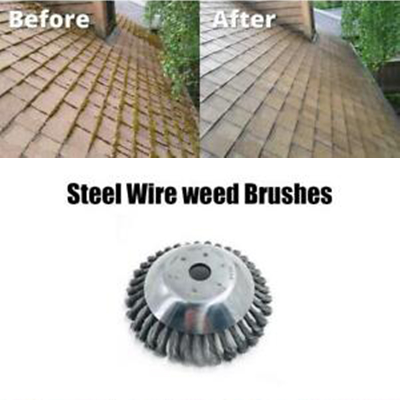Weed Brush Steel Wire Wheel For Brush Cutter Dust Removal Deburring Disc Power Tool Replacement Machines Accessaries