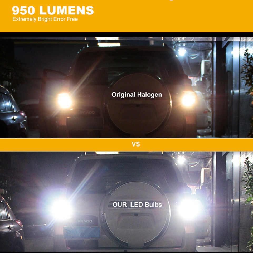 CN360 2 шт. новый обновленный Чрезвычайно яркий Мощный Canbus SMD3020 912 921 T15 W16W Автомобильный светодиодный светильник заднего хода