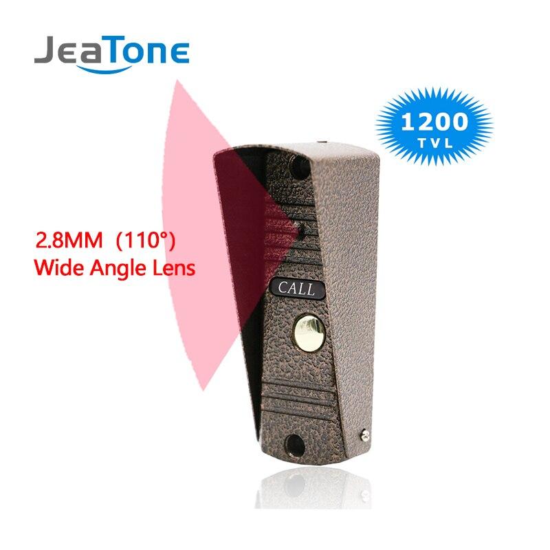 Interphone de porte interphone vidéo de sécurité à domicile interphone d'appartement sonnette vidéo IR Vision nocturne panneau d'appel extérieur lentille grand Angle