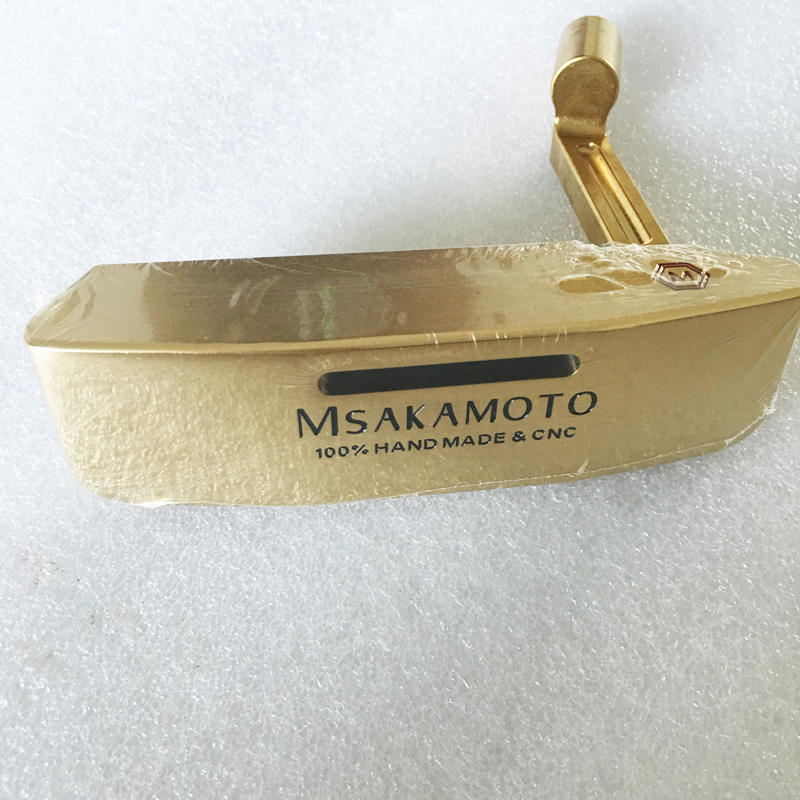 New Unisex Golf clubs heads MSAKAMOTO Golf putter head Gold color Right Handed putter clubs head no Golf shaft Free shipping конфеты spring 228g