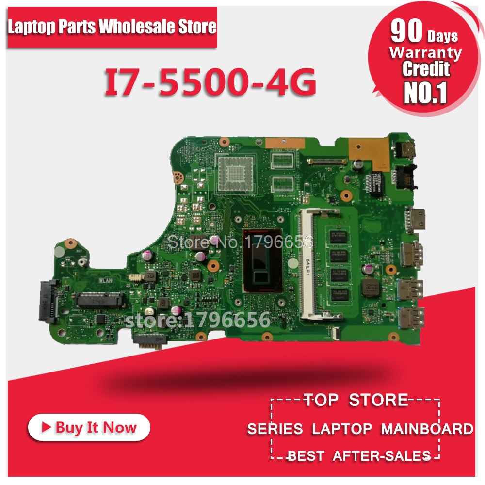 X555LD Motherboard I7-5500 4G REV:3.6 For ASUS X555LD X555L W519L VM501L laptop Motherboard X555LD Mainboard X555LA Motherboard kefu x555ld for asus x555ld r557l laptop motherboard rev2 0 1 1 3 1 3 3 i5 cpu motherboard tested motherboard