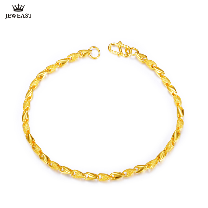 24K Pure Gold Bracelet Real 999 Solid Gold Bangle Smart Fluency Sand Surface Trendy Classic Party Fine Jewelry Hot Sell New 2018 24k pure gold bracelet real 999 solid gold bangle elasticity no deformation trendy classic party fine jewelry hot sell new 2018