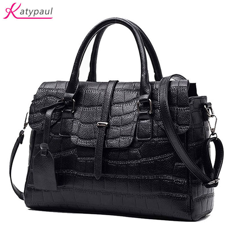 Luxury Brand Women's Handbags Leather Shoulder Bag Ladies Hand Bags Stone Casual Women Bag Large Capacity Handbag 2017 Sac Pink kadell brand luxury women leather handbags bolsa feminina large capacity elegant ladies shoulder bag for business paty totes