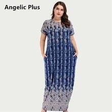 Plus Size Long Dress Elegant Loose Fit
