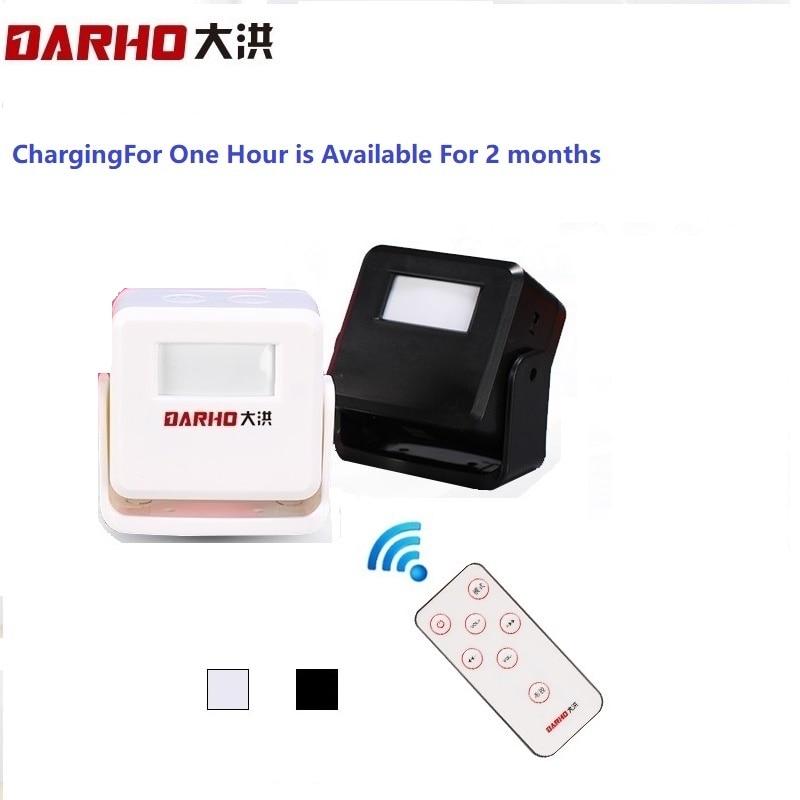 Darho สวัสดียินดีต้อนรับศูนย์การค้าร้านค้าการรักษาความปลอดภัยหน้าแรกยินดีต้อนรับกระดิ่งไร้สายอินฟราเรด Motion Sensor ประตูเบลล์ปลุกรายการออด
