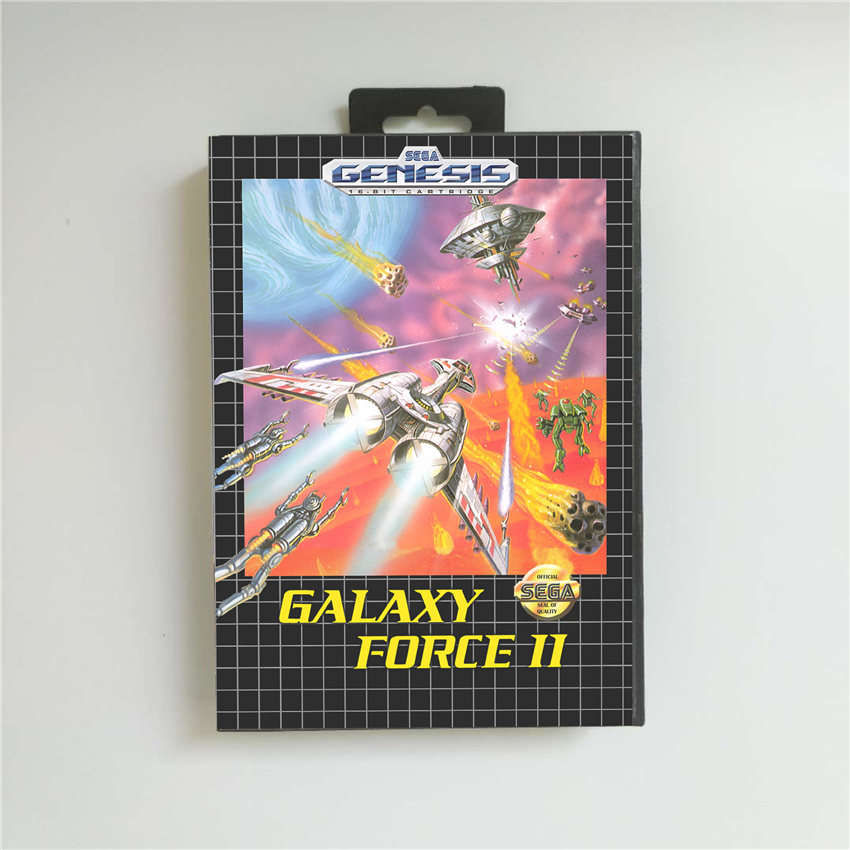 Galaxyed Force II USA Cover 16 Bit MD Game Card For Sega MegaDrive Genesis Game Console Cartridge