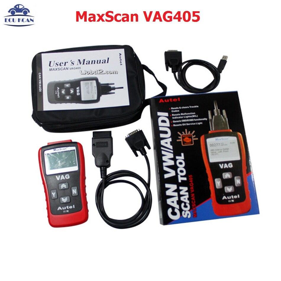 Автоматический сканер CAN VW/A-udi, лучший, самая низкая цена, сканер VAG 405, считыватель кода Autel MaxScan VAG405, доставка