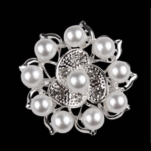 Pearl Grape Brooch Pins for Women