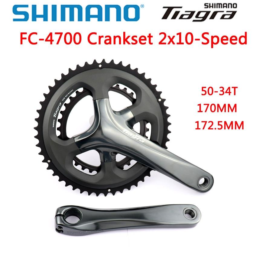 SHIMANO New Tiagra 4700 10-Speed 36//52t 165mm Crankset
