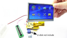 GHXAMP 4.3 بوصة LCD بلوتوث الفيديو فك المجلس MP3 الصوت MP4 MP5 DTS WAV FM AUX يدعم HD مدمج 16*16 ذاكرة DDR DC 5 فولت