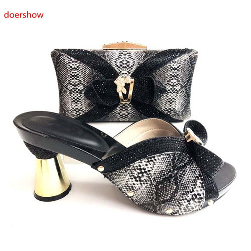 doershow blackMatching Italian Shoe and Bag Set Italian Shoes with Matching Bag Nigerian Shoe and Matching Bag Women Shoe JS1-22doershow blackMatching Italian Shoe and Bag Set Italian Shoes with Matching Bag Nigerian Shoe and Matching Bag Women Shoe JS1-22