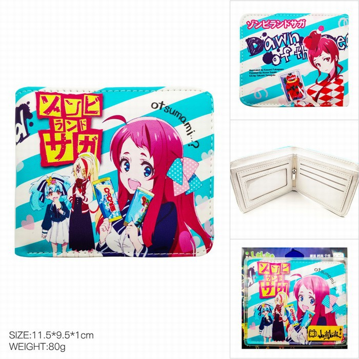 Zombieland Saga Sakura Minamoto Cosplay Wallet PU Leather Purse Bag Japanese Anime Cosplay Costume Accessories Props