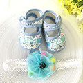Kids flowers Shoes  Girl Princess Lace Headband Cute Infant Girl Toddler Shoes Set Newborn Photography Props 5TX07