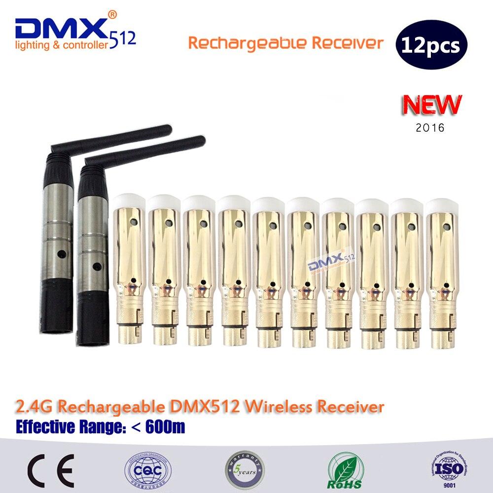 ФОТО DHL Free shipping 12PCS  DMX512 DMX Dfi DJ 2.4G Wireless Receiver & Transmitter Lighting Controller