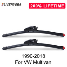 SLIVERYSEA Replace Wiper Blade for Multivan 1990-2018 Silicone Rubber Windshield Windscreen Auto Car Accessories