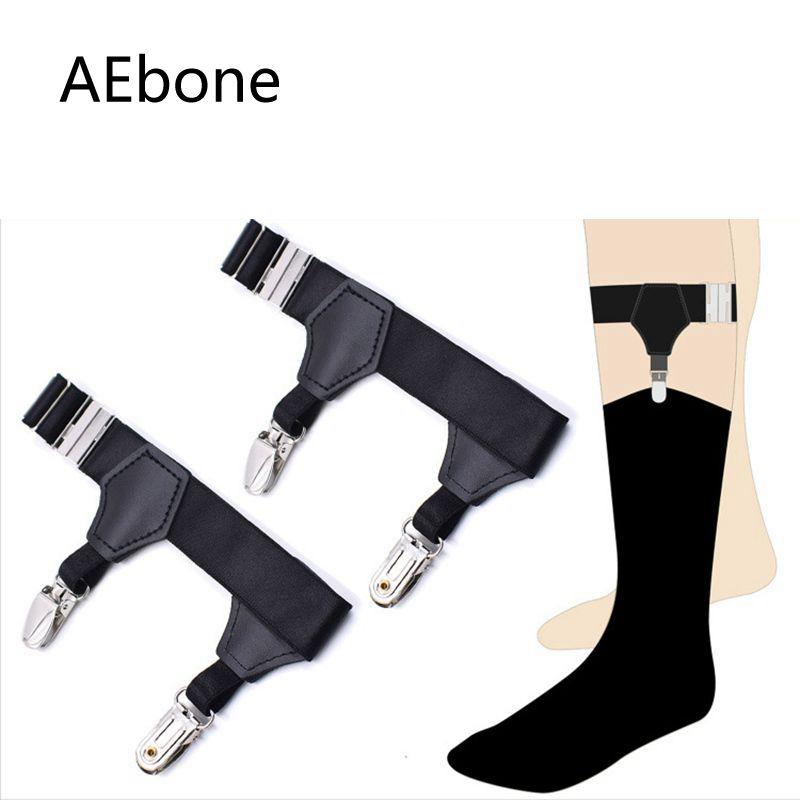AEbone Mens Sock Garter Strap Belts 2 Clip Suspenders Keep Sock Stay 2pairs Sus45