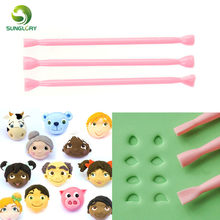 3PCS Eye Mold Tool Plastic Fondant Cutter Cake Mold Eyes Modelling Tools Decorating Stamper Printing Carving Stick Baking Molds(China)