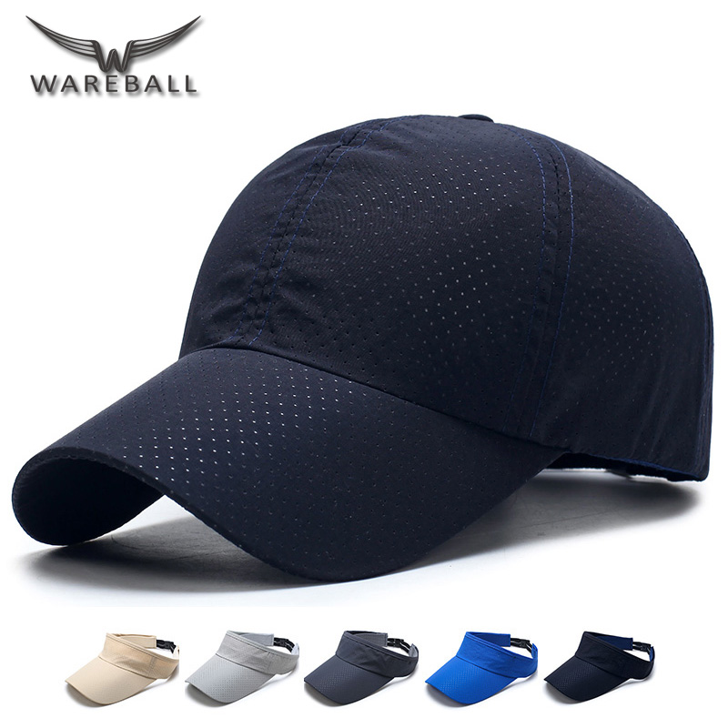 [WAREBAL] New 2017 Summer Snapback Men Women Quick Dry Mesh Baseball Cap Sun Hats Bone Breathable Hats