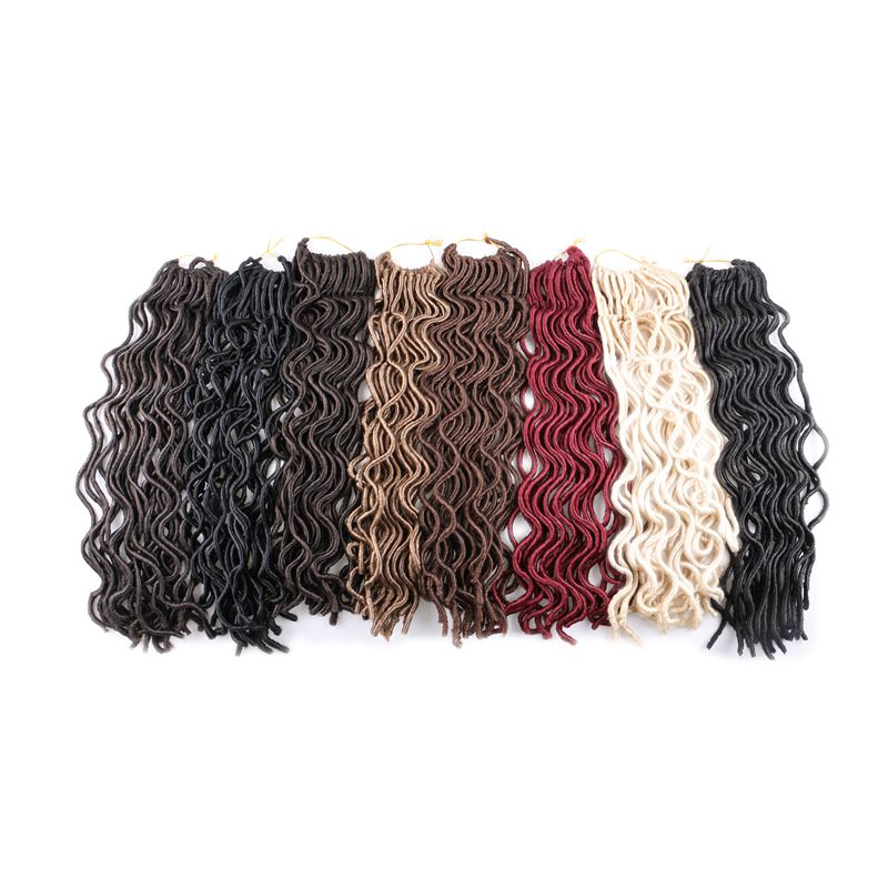 Lyx för flätande Kanekalon Syntheic Hair Extensions 20inch - Syntetiskt hår