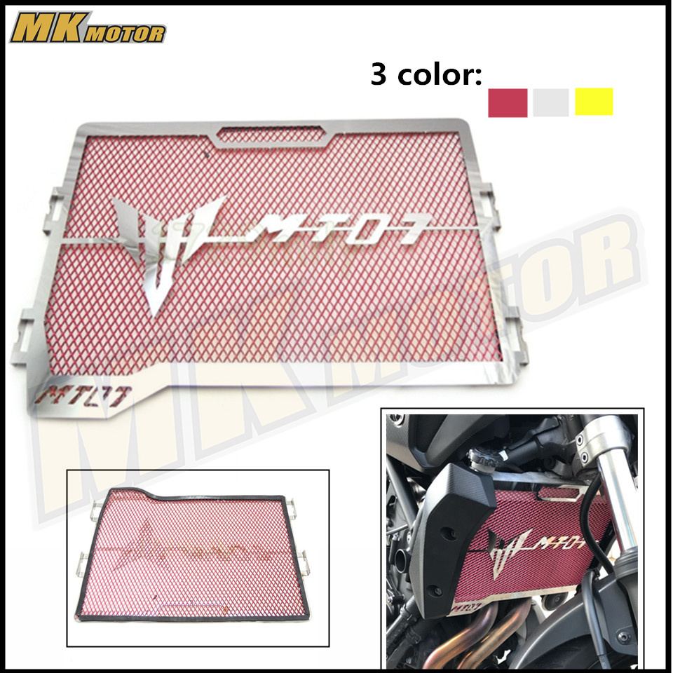 For Yamaha MT-07 MT 07 FZ-07 FZ 07 Radiator Grille Guard Cover Protector For Yamaha MT07 FZ07 2014 2015 2016 2017 for yamaha mt 07 fz 07 mt07 fz07 2014 2016 motorcycle accessories cnc aluminum engine protector guard cover frame slider blue