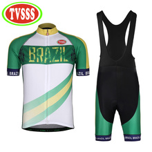 TVSSS 2017 New Cycling Jerseys Brazil Summer Men's Short-Sleeved Bicycles Clothing Sets Women MTB Bike Suit  Brazil Flag Design