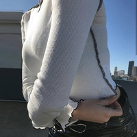 Harajuku longsleeve t shirts women Spring Summer new Unif White Black short tops women streetwear ulzzang causal basic tshirt