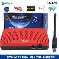 Récepteur TV Satellite Vmade récepteur DVB S2 récepteur numérique HD avec prise en charge des lunettes WIFI USB décodeur Satellite CCCAM DVB-S2