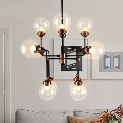 LEDream Loft industrial retro bar droplight contracted creative personality, wrought iron sitting room, bedroom art chandelier ledream contracted and creative personality sitting room dining room art glass chandelier american cherry branches pendent lamp