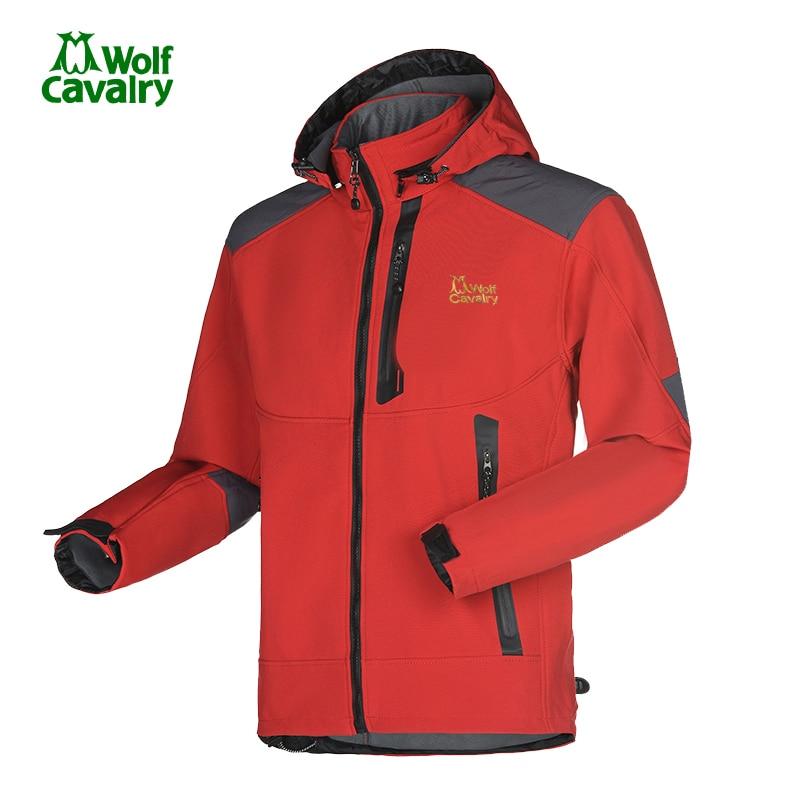 цена на CavalryWolf  Men Hiking Softshell Jacket Windstopper running Waterproof Outdoor Thermal