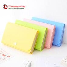 A6 красочный аккордеон стиль мини банкнот чековый Файл Сумка для документов папка держатель для карт Органайзер держатель для файлов расширяющийся кошелек