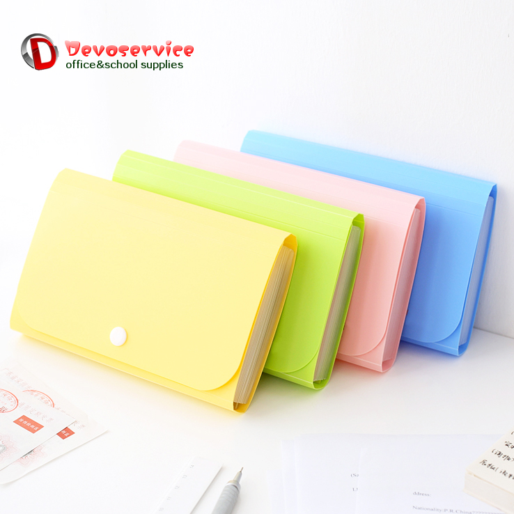A6 Colorful Accordion Style Mini Bills Receipt File Document Bag Pouch Folder Card Holder Organizer File Holder Expanding Wallet
