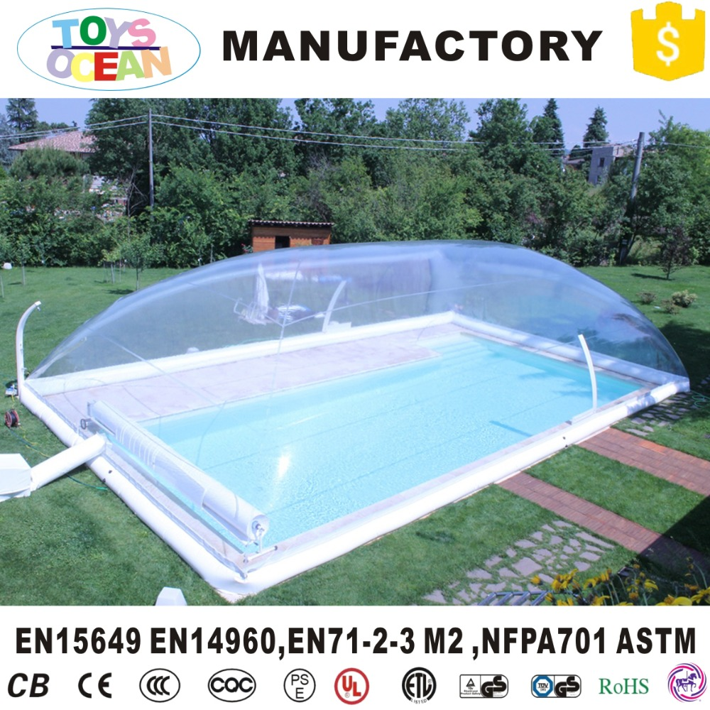 US $880.0 |customized size inflatable transparent pool cover for backyard  swimming pool-in Inflatable Bouncers from Toys & Hobbies on Aliexpress.com  | ...