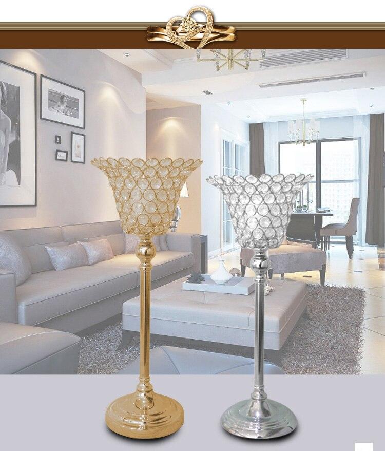 Gold/Silver 2018 New Wedding Candlestick Wedding Decoration/Wedding bedside candlestick/Desktop Decoration Candlestick