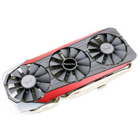 Computer Cooler Radiator With Heatsink Heatpipe Cooling Fan For ASUS STRIX R9 390 390X Grahics Card