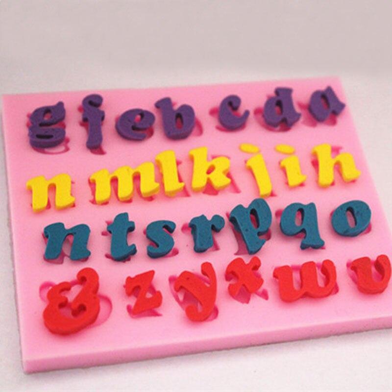 Wulekue Silicone Rectangle Russian Alphabet Letters Chocolate Cake Mold DIY Ice