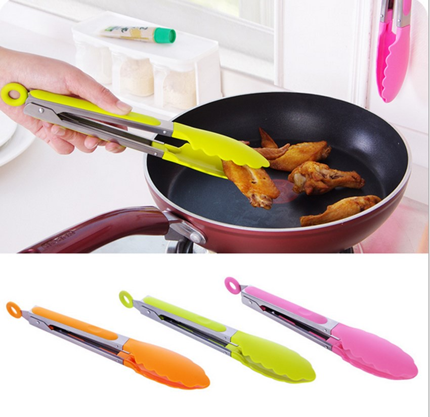 Promoci n de pinza de silicona compra pinza de silicona for Pinzas de cocina
