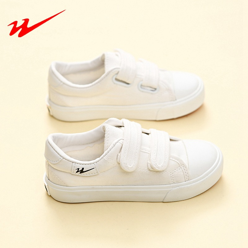 2018 new children s shoes children s canvas shoes magic paste student  sports white shoes casual shoes original burst-in Sneakers from Mother    Kids on ... 68587b39c7d8